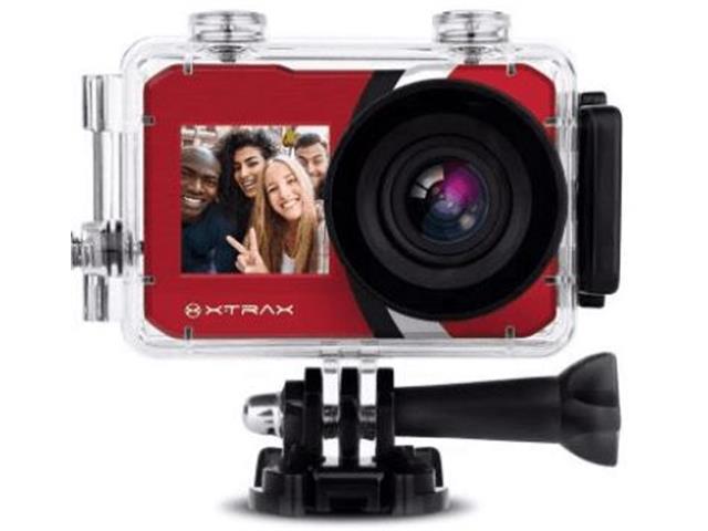 Câmera de Ação Xtrax com Visor Fronta Selfie 4K Vermelha