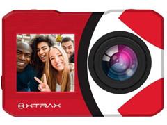 Câmera de Ação Xtrax com Visor Fronta Selfie 4K Vermelha - 1