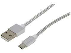 Cabo Micro USB Xtrax Prata 1,5 Metros - 1