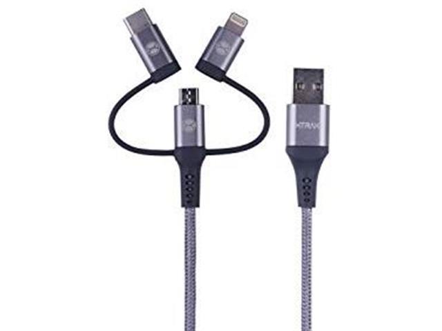 Cabo 3 em 1 Xtrax Tipo C Micro USB e Lightning 1 Metro