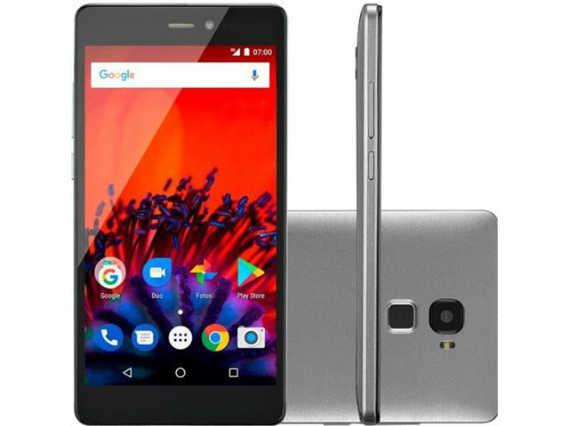 "Smartphone Multilaser MS60F Plus 4G Duos Tela 5.5"" 16GB Câm. 8MP Prata"
