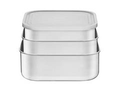 Conjunto de Potes Tramontina Quadrado Freezinox Aço Inox 3 Peças - 1