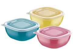 Conjunto de Potes Tramontina Mixcolor 3 Peças 600ml
