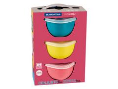 Conjunto de Potes Tramontina Mixcolor 3 Peças 600ml - 2