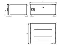 Caixa para Ferramentas Tramontina Pickup Box Azul 82 x 100 x 50 cm - 2