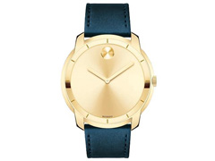 Relógio Movado Masculino Couro Azul - 3600469 - 0