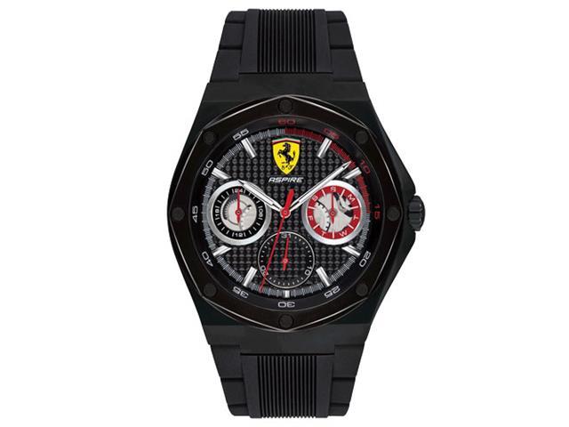 Relógio Scuderia Ferrari Masculino Borracha Preta - 830538