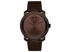 Relógio Movado Masculino Couro Marrom - 3600377