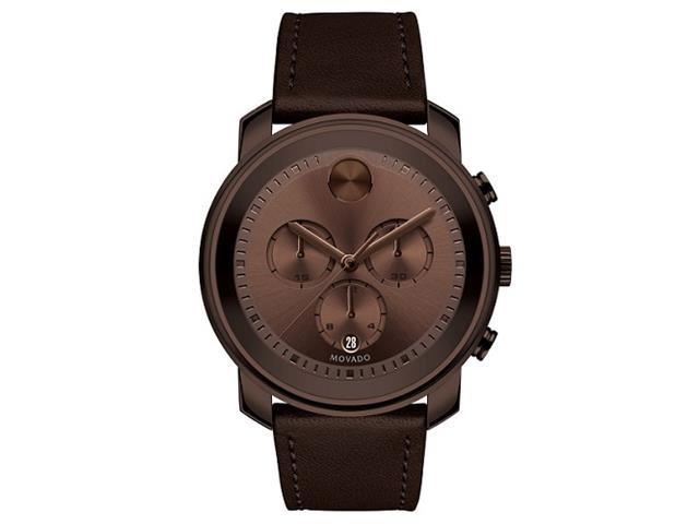 Relógio Movado Masculino Couro Marrom - 3600420