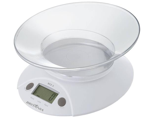 Balança de Cozinha Digital Britânia BCZ5 até 5kg