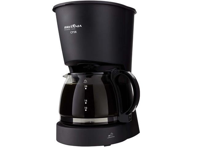 Cafeteira Elétrica Britânia CB28 Preta 28 Xícaras 750W