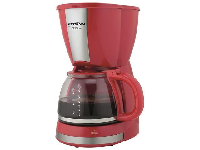 Cafeteira Elétrica Britânia CB30 Vermelha 30 Xícaras 800W