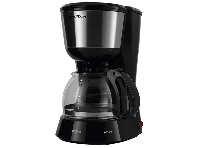 Cafeteira Elétrica Britânia BCF18I Preta 18 Xícaras 550W