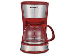 Cafeteira Elétrica Britânia Inox Plus BCF18IV Vermelha 18 Xícaras - 1