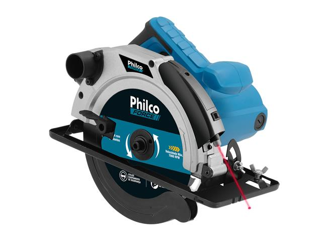 Serra Circular Philco PSC01 com Disco de Corte e Guia Laser 1500W 220V
