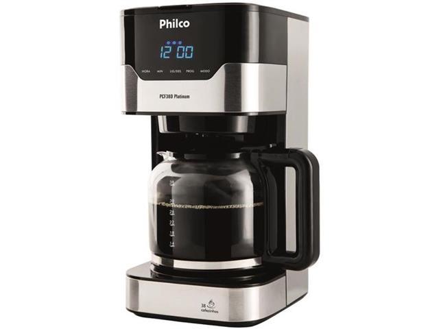 Cafeteira Elétrica Philco PCFD38 Platinum 38 Xícaras 800W