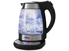 Chaleira Elétrica Philco Glass PCHD com Painel Digital Inox 1,7 Litros