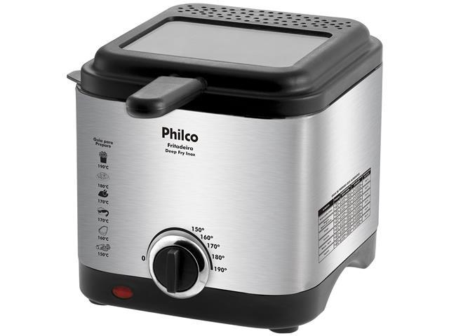 Fritadeira com Óleo Philco Deep Fry Inox 1,8 Litros 900W