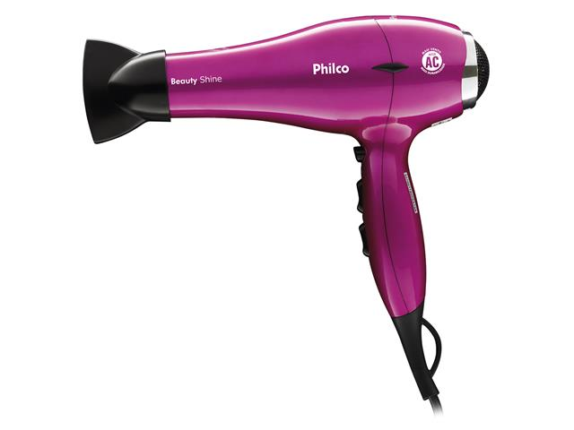 Secador de Cabelos Philco Beauty Shine Profissional Pink 2000W