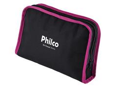 Kit Prancha e Secador de Cabelos Philco Travel Shine Rosa Bivolt - 3