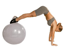 Bola de Ginástica Gym Ball Acte T9-55 com Bomba de Ar Prata 55cm - 1