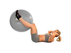 Bola de Ginástica Gym Ball Acte T9-55 com Bomba de Ar Prata 55cm - 3