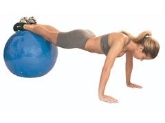 Bola de Ginástica Gym Ball Acte T9 com Bomba de Ar Azul 65cm - 2