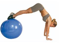 Bola de Ginástica Gym Ball Acte T9 com Bomba de Ar Azul 65cm - 1