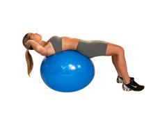 Bola de Ginástica Gym Ball Acte T9 com Bomba de Ar Azul 65cm - 4