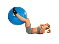 Bola de Ginástica Gym Ball Acte T9 com Bomba de Ar Azul 65cm - 3