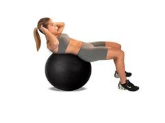 Bola de Ginástica Gym Ball Acte T9-PTO Preta 65cm - 1