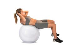 Bola de Ginástica Gym Ball Crystal Acte T9-T Transparente 65cm - 1