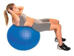 Bola de Massagem Acte T9 Inflável Azul 65cm - 3