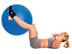 Bola de Massagem Acte T9 Inflável Azul 65cm - 4