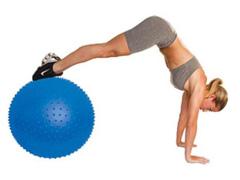 Bola de Massagem Acte T9 Inflável Azul 65cm - 1