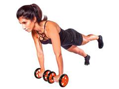 Roda para Exercícios Abdominais Acte T145 Dupla - 1