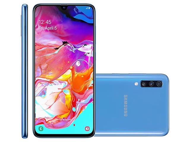 """Smartphone Samsung Galaxy A70 128GB 6GB Tela 6.7"""" Câm 32+5+8MP Azul"""