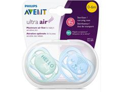 Chupetas Ultra Air Dupla 0 a 6 meses Philips Avent SCF342/20 Az e Vd - 4