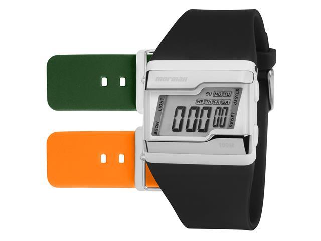 Relógio Mormaii Unissex FZ/T8L Prata Digital Troca Pulseira