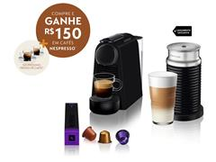 Combo Cafeteira Nespresso Essenza Mini Matt Black + Aeroccino 3