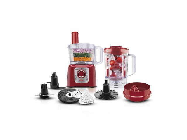 Processador de Alimentos Arno Multichef 7 em 1 Vermelho