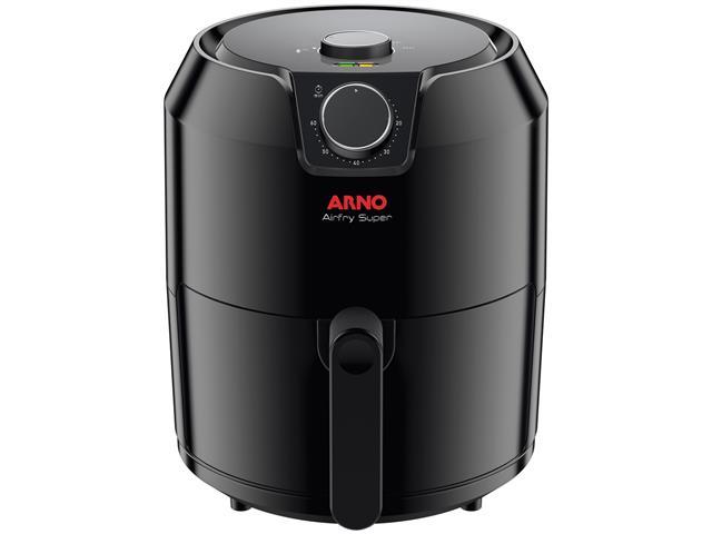 Fritadeira Elétrica sem Óleo Arno Air Fry Super Preta 1400W