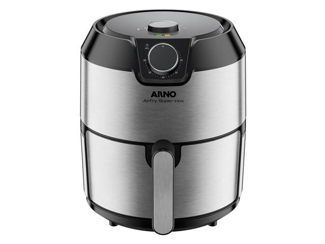 Fritadeira Elétrica sem Óleo Arno Air Fry Super Inox 1400W