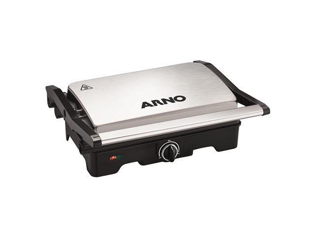 Grill e Sanduicheira Arno Dual Inox 1100W
