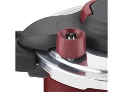 Panela de Pressão Rochedo Clipso Revestida Vermelha 4,5 Litros - 5