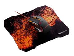 Kit Multilaser MO256 Mouse Gamer e Mouse Pad Laranja - 1