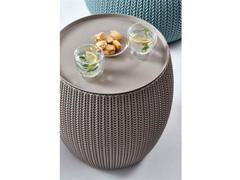 Mesa Baú Redonda Keter Cozy Table Bege - 1