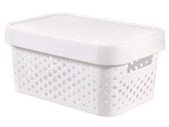 Cesto Organizador Curver Modular Infinity White 4,5 Litros