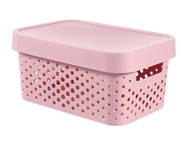 Cesto Organizador Curver Modular Infinity Pink 4,5 Litros