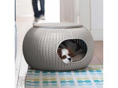 Cama Puff Curver Cozy Pet Knit Sandy com Almofada - 2
